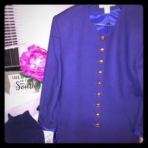 Vintage Christian Dior purple suit. Size 16.